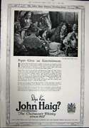 Antique Print Ref.924 1923 Advertisement John Haig Clubmanand039s Scotch Whisky