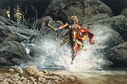 Frank Mccarthy - Whirling He Raced To Meet The Challenge - Giclee Canvas - Mint