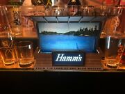 1950s Hamms Lighted Breweriana Vintage Hamms Lake Lighted Sign - Works