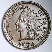 1888 Indian Head Small Cent Choice Unc Free Shipping E129 Jcl