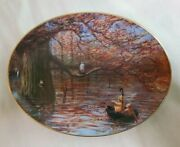 Peter Ellenshaw Pooh Seasons 'autumn Comes To The Wood' Oval Collectors Plate