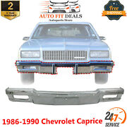 Front Bumper Face Bar Chrome With Fog Light Holes For 1980-90 Chevrolet Caprice