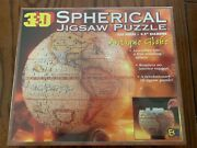 New/sealed 1998 3d Spherical Jigsaw Puzzle Antique Globe 530 Pieces 9.5diameter