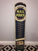 Mail Pouch Tobacco Thermometer Vintage Sign