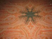 Large Antique Woven Wool Paisley Table Cover Piano Cover Shawl 118 By 58