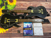 Wii U Guitar Hero Live Bundle With 2 Guitars And 2 Receivers / Dongles And 2 Straps