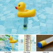 Swimming Pool Thermometer Cute Little Yellow Duck Children Playing In Water E5q8