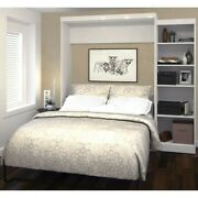 Atlin Designs 90 Queen Wall Bed With Storage In White