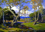 A California Woodland Painting By Franz Bischoff - Top Quality Canvas Print