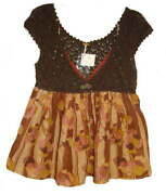 Free People Crochet Top Large 12 Brown Print Bottom V Neck Cap Sleeve Floral Nwt