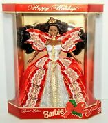 Rare Special Edition 10th Anniversary Happy Holidays 1997 Barbie Doll Mattel