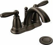 Moen 6610orb Brantford Bathroom Faucet With Drain Assembly Oil Rubbed Bronze