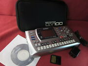 Yamaha Qy-100 Qy100 Mobile Sequencer Tested W/ Case 8mb Power Supply Ac 100-240v