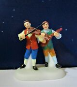 Dept 56 Williamsburg Tavern Balladeers  Colonial, Fiddle, Ukelele, King's Arms
