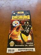 2004 Pittsburgh Steelers V Ravens Football Ticket Bettis Passes Dickerson