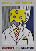 Roy Lichtenstein - Offset Litho Poster Jobs Not Cheese Rare Hand-signed Copy