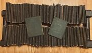 Little Leather Library Mini Books Suede Leather, 102 Books, Antique