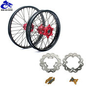 21and039and039+18and039and039 Wheel Rim Rotor Pads Set For Honda Crf250r 04-13 Crf450r 02-12 Crf250x