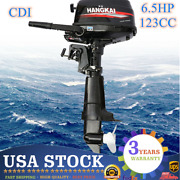 4stroke 6.5hp 123cc Outboard Motor Inflatable Marine Boat Engine Water Cooling U