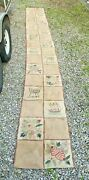 Vintage Antique Country Folk Art Hooked Runner Rug 2andrsquo X 16.5andrsquo