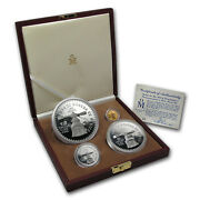 1987 Mexico 4-coin Gold And Silver U.s. Constitution Commem Prf Set - Sku14779