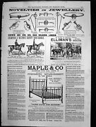 Antique Old Print Maple Co Furniture Novelties Jewellery Godwin And Son 1880 19th
