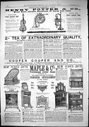 Antique Print 1882 Henry Potter Music Instruments Maple Furniture Coope Tea