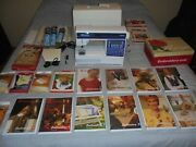 Husqvarna Viking Rose Model 600 Sewing And Embroidery Machine + 15 Cards And More