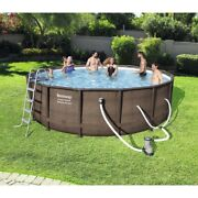 Bestway Power Steel Deluxe Series 20and039 X 48 Above Ground Pool