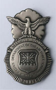 Badge Identification Security Police Air Force Usaf Mini A Series 1 3/4 Inch Exc