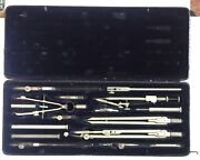 Antique Collectable Richter Precision Pracision Drafting Tools Set 1920