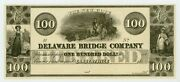 1800and039s 100 The New Hope Delaware Bridge Co. - Lambertville New Jersey Note