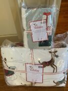S2 Pottery Barn Kids Heritage Santa Quilt Standard Sham Twin Christmas Sold Out