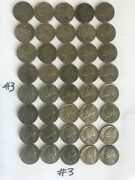 One Jefferson Silver War Nickels 35 Silver Roll 3 Very Good To Fine Condition