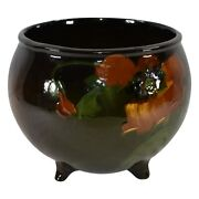 Mccoy Pottery Loy-nel-art Four Footed Poppy Jardiniere Planter