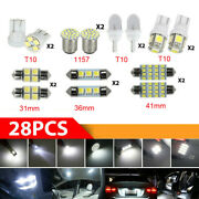 28x Car Interior Led Light For Dome Map License Plate Lamp Bulb Accessories Kits