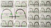 Dental Orthodontic Arch Wire Round Stainless Steel Oval/natural Form 12-20 U/l
