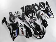 White Black West Abs Injection Drilled Fairing Kit Fit For 2007 2008 Zx6r 636