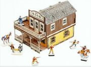 3d Puzzle Construction Kit Cardboard Model-wild West Bank Toy 469