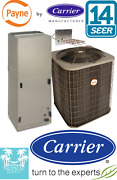 3 Ton 14 Seer Ac Split Unit By Carrier Condenser And Air Handler With Heat Strip