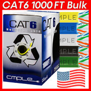 1000ft Cat6 Bulk Cable Ethernet Cat6 Cable Lan Cord 23awg 550mhz Network Wire