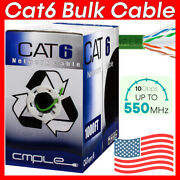 Green 1000ft Cat6 Bulk Cable Ethernet Cable Cat6 Cord 23awg 550mhz Network Wire