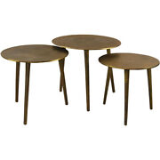 Uttermost 25148 Kasai 18 X 17 Inch Oxidized Antique Gold Coffee Tables Set Of 3
