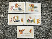 Lego Vip All 5 Winnie The Pooh Limited Edition Print Sketches, New 1 Of 1000