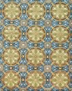 Aubusson Ziegler Rug 8and039x10and039 Blue Hand-knotted Wool Pile
