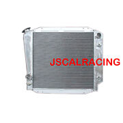 Aluminum Radiator For Ford Bronco Wagon Roadster 66-77 V8 L6 3row At 52mm 522