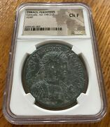 Caracalla Perinthus Ae Medallion Boxing Games Ngc Very Rare 40 Mm