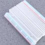 10pcs Experiment Solderless Breadboard 400-points Red And Blue Line Mini Bread B