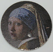 Great Micromosaic Passion - Girl With Pearl Earring Palau 2019 3 Oz 20 Dollars