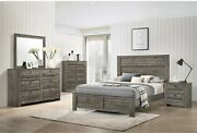 Brown Finish Contemporary Bedroom Furniture King/queen/full/twin Size Bed Set